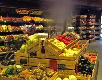 Система увлажнения высокого давления в супермаркете